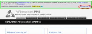 afficher le texte seul via la page cache de google referencement montreal pme