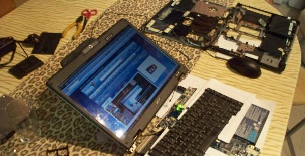 comment demonter un laptop