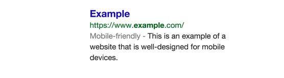Label google friendly