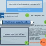 page atterrissage pour adwords