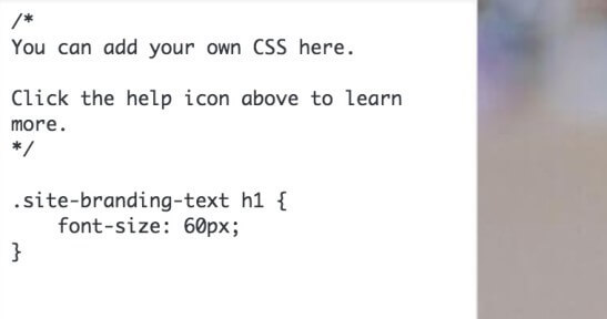 CSS personnalisé