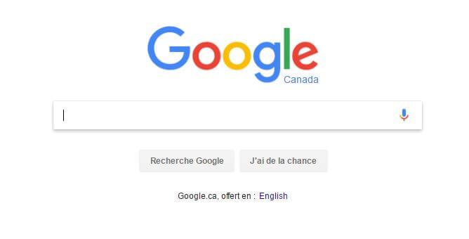 google.ca en français