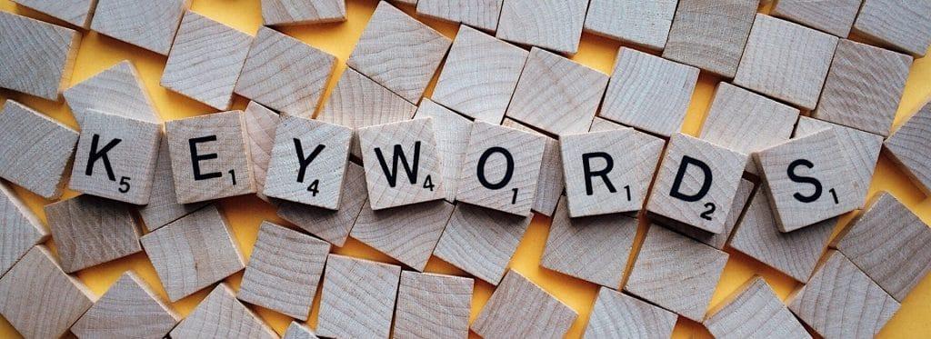 valeurs de mots clés