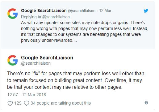 google search bulletin liaison
